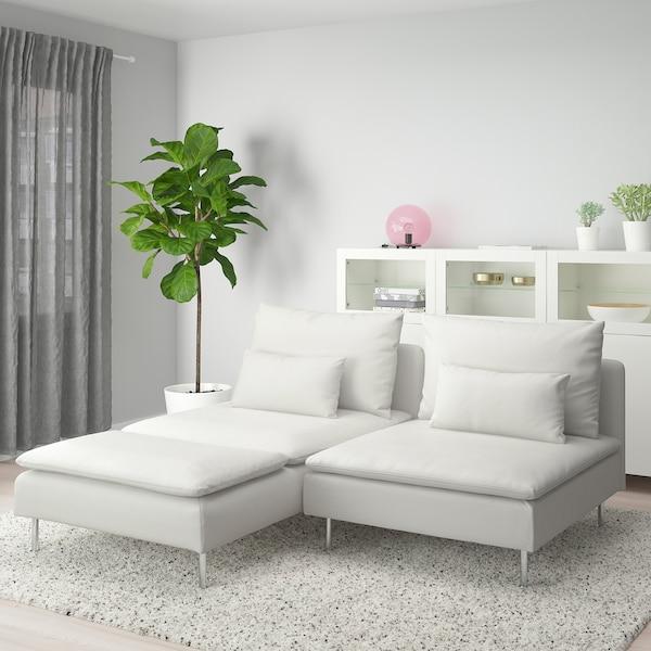 SÖDERHAMN 2-seat sofa, with chaise longue/Finnsta white