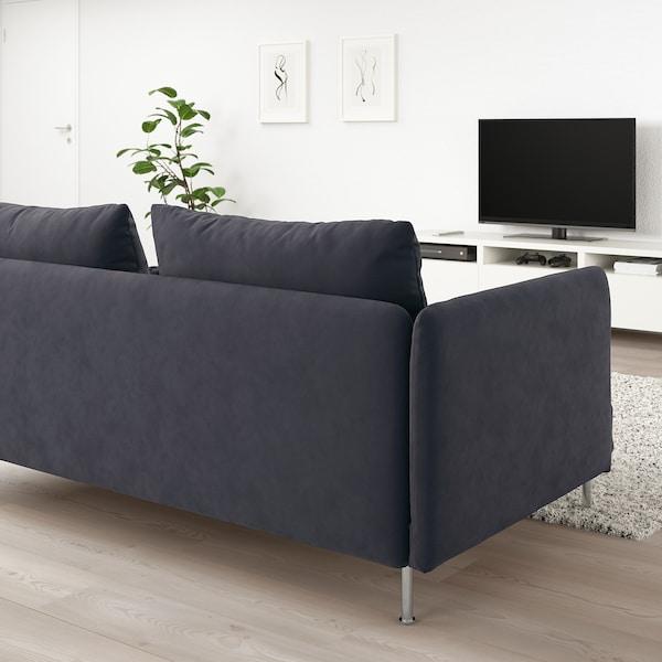SÖDERHAMN 3-seat sofa Samsta dark grey 83 cm 69 cm 198 cm 99 cm 14 cm 6 cm 186 cm 70 cm 39 cm