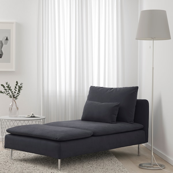 SÖDERHAMN Chaise longue, Samsta dark grey