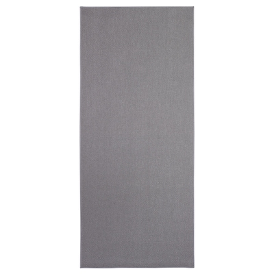 SÖLLINGE Rug, flatwoven, grey, 65x150 cm