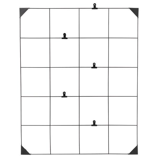 SÖSDALA memo board with clips black 60 cm 75 cm