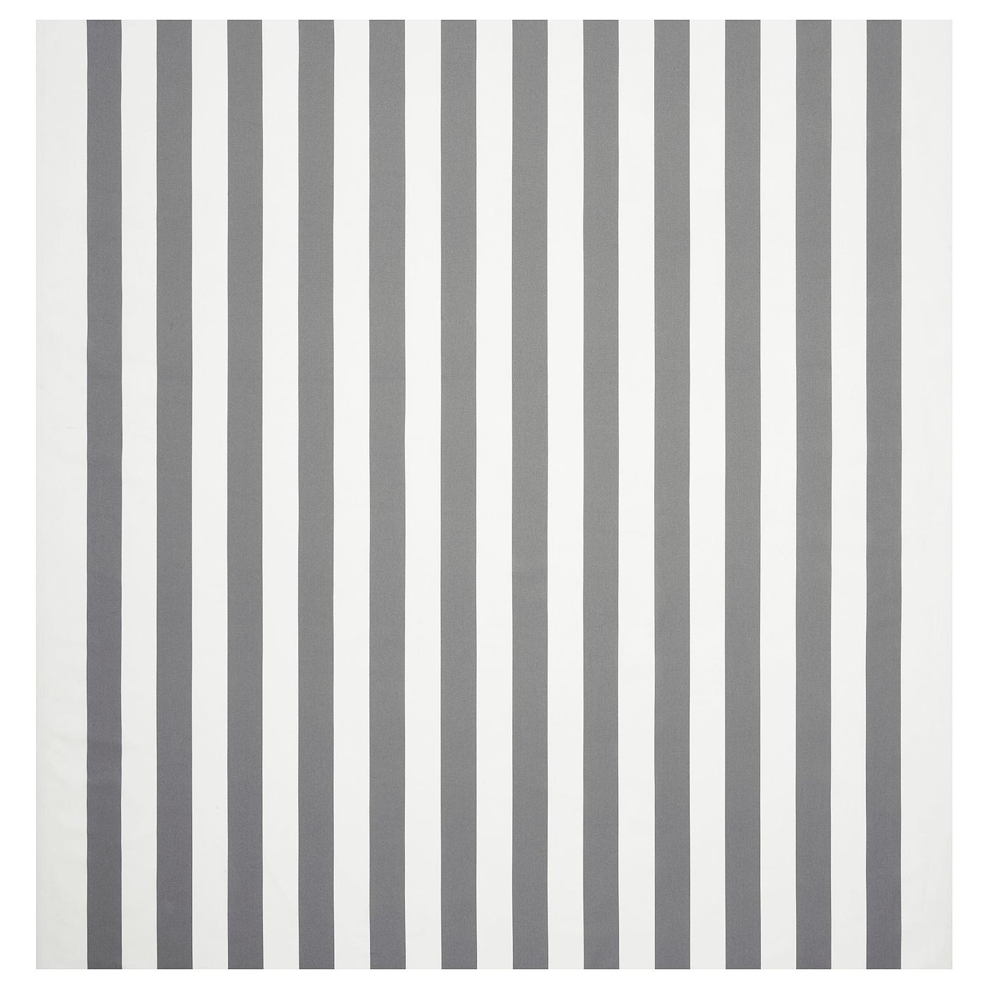 Sofia Fabric Broad Striped Whitegrey Ikea