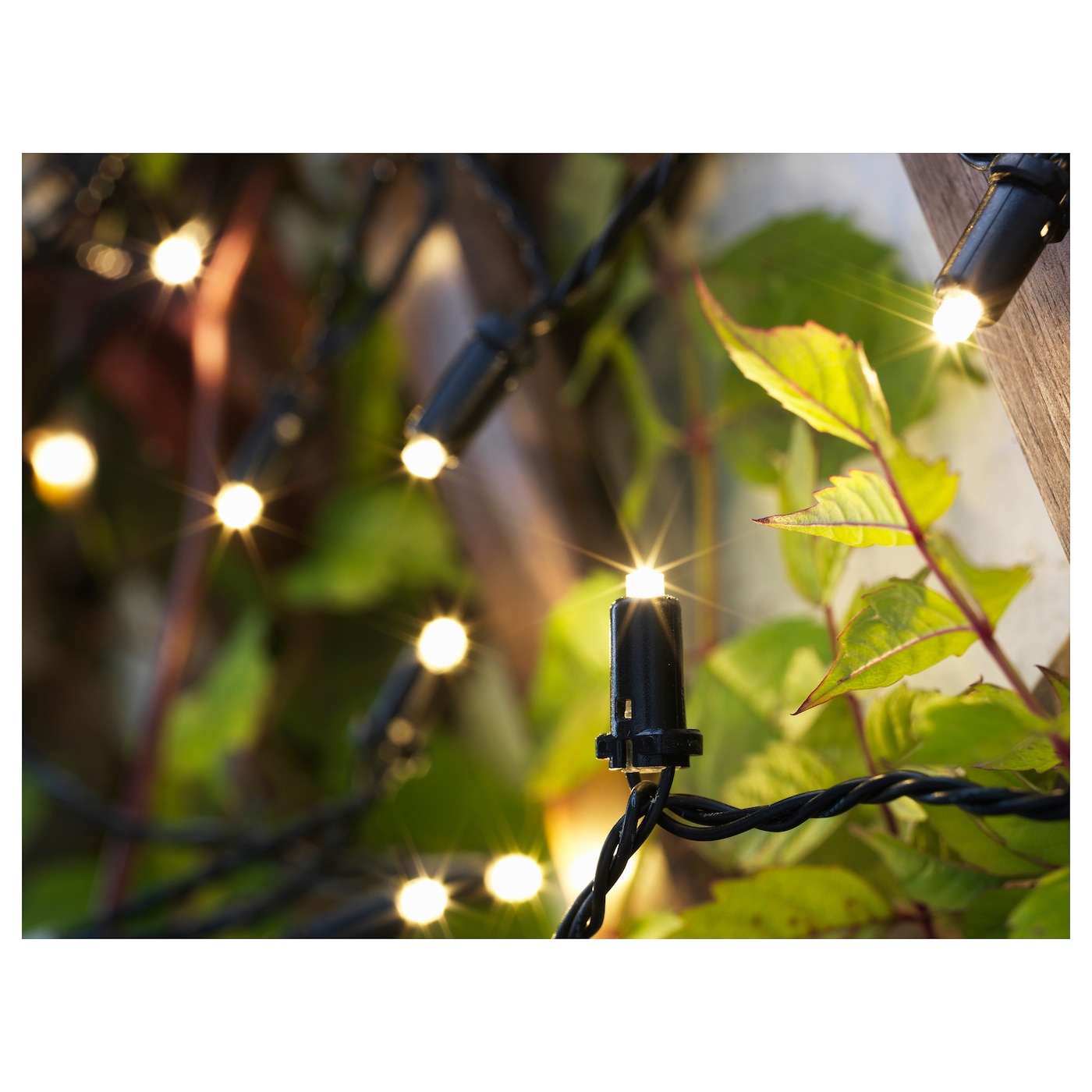 solarvet led lighting chain with 24 lights outdoor solar powered ikea. Black Bedroom Furniture Sets. Home Design Ideas