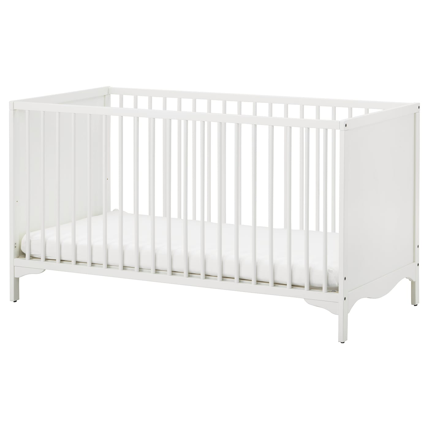 IKEA SOLGUL cot The cot base can be placed at two different heights.