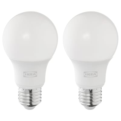 SOLHETTA LED bulb E27 806 lumen, dimmable/globe opal white