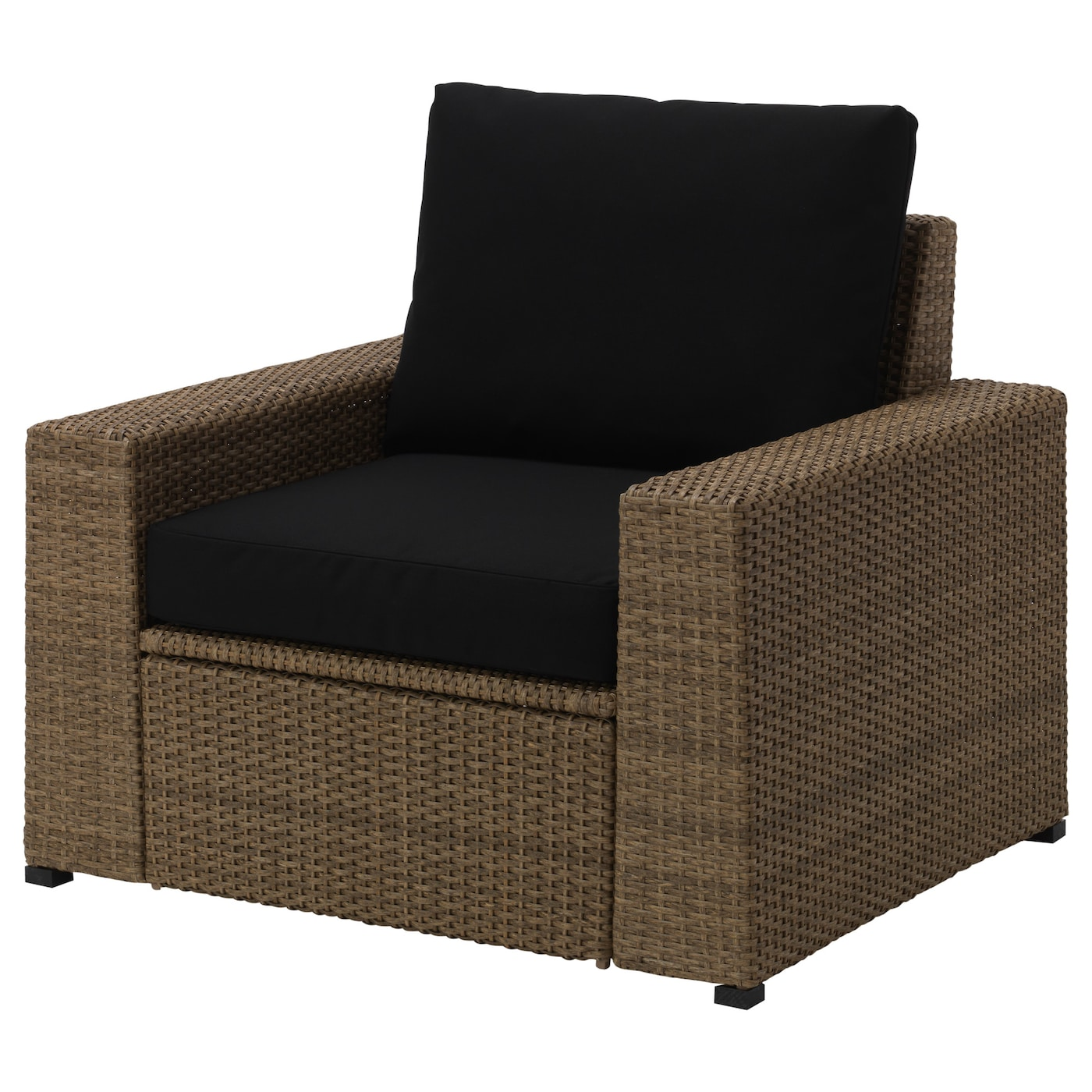 IKEA SOLLERÖN armchair, outdoor The materials in this outdoor furniture require no maintenance.