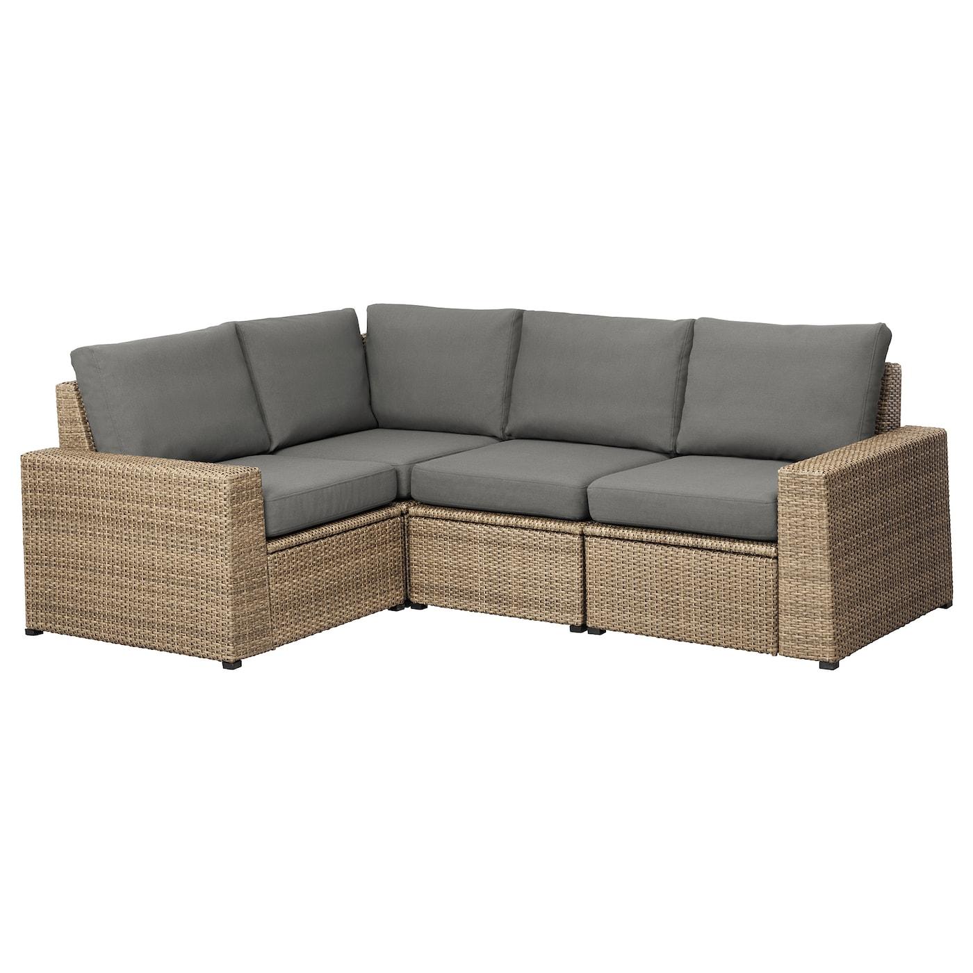 Ikea Corner Sofa Brown: SOLLERÖN Modular Corner Sofa 3-seat, Outdoor Brown/frösön