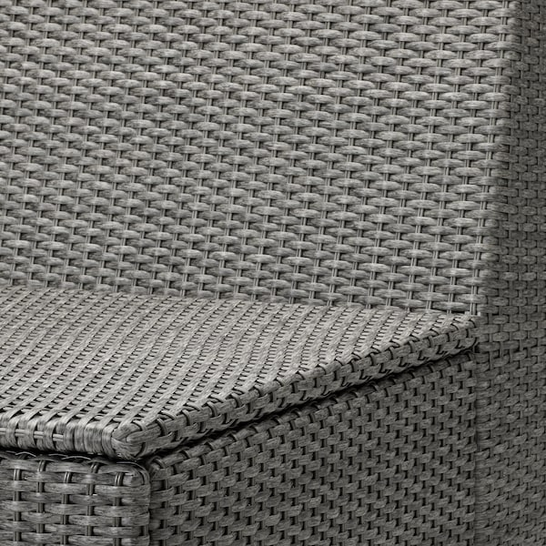 SOLLERÖN One-seat section, outdoor, dark grey