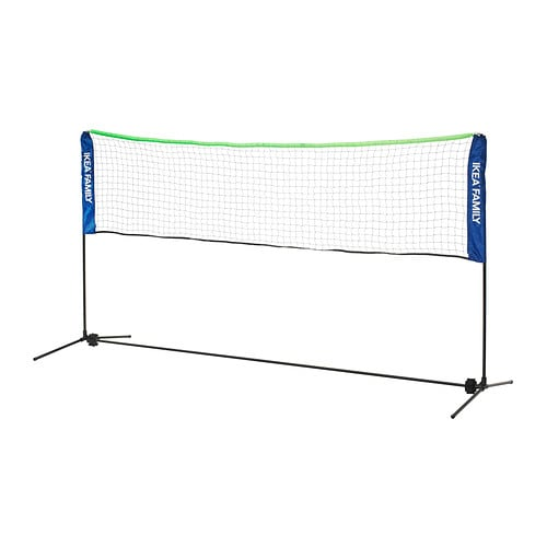 SOLUR Net for ball/racket games IKEA You can easily adjust the height of this net to suit either tennis or badminton.