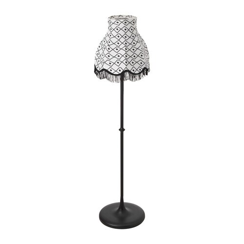 solvinden led solar powered floor lamp black white ikea. Black Bedroom Furniture Sets. Home Design Ideas