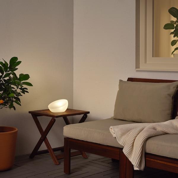 SOLVINDEN LED solar-powered lighting outdoor/half globe white 2 lm 11 cm 18 cm