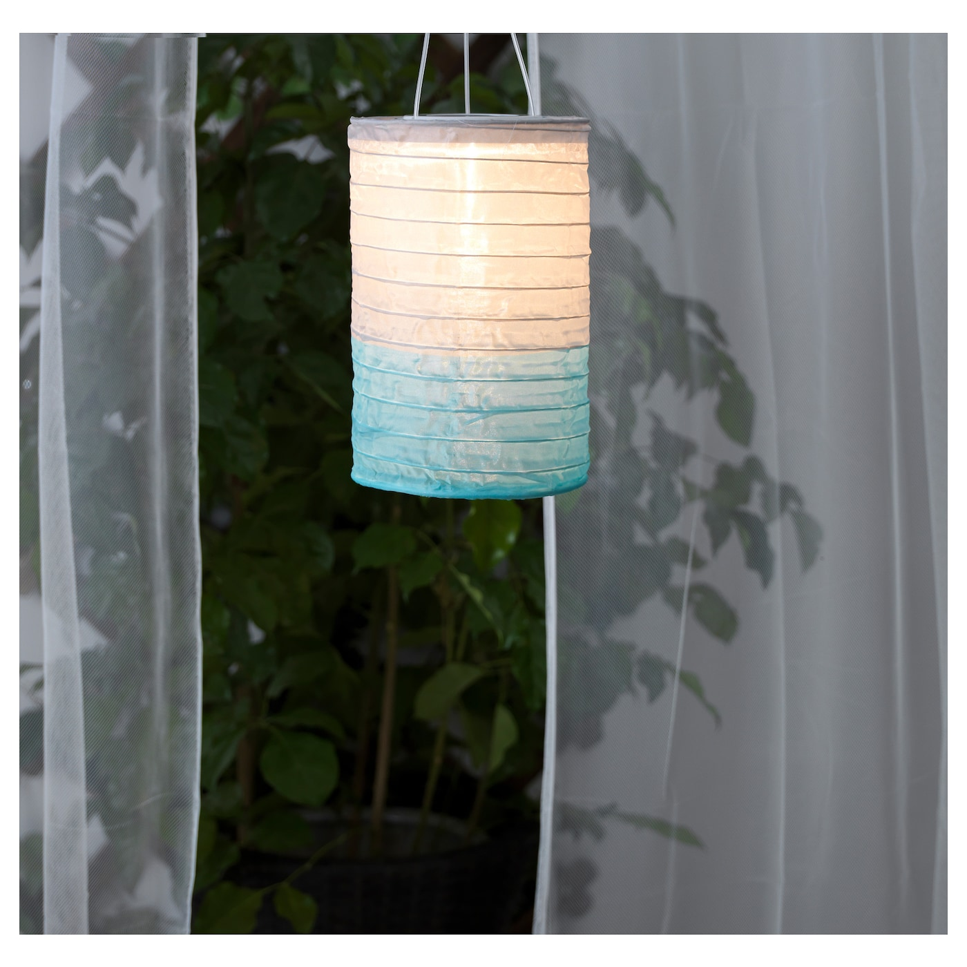 solvinden solar powered pendant lamp tube shaped grey turquoise 15 cm ikea. Black Bedroom Furniture Sets. Home Design Ideas