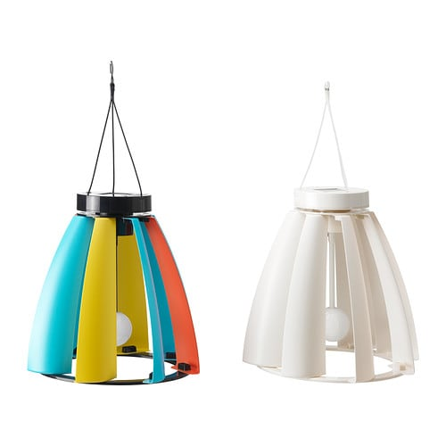 SOLVINDEN Solar/wind-powered pendant lamp IKEA Creates interesting light effects when it rotates in the wind.