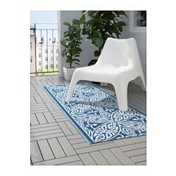 sommar 2016 rug flatwoven in outdoor blue white 75x200 cm ikea. Black Bedroom Furniture Sets. Home Design Ideas