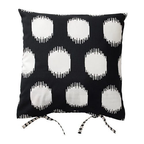 IKEA SOMMAR 2017 cushion cover The ties make the cover easy to remove.