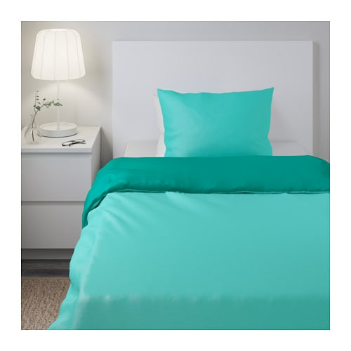 IKEA SOMMAR 2017 quilt cover and 2 pillowcases Cotton, feels soft and nice against your skin.