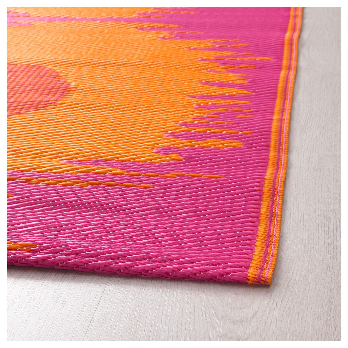 SOMMAR 2017 Rug, Flatwoven In/outdoor Pink/orange 75x200