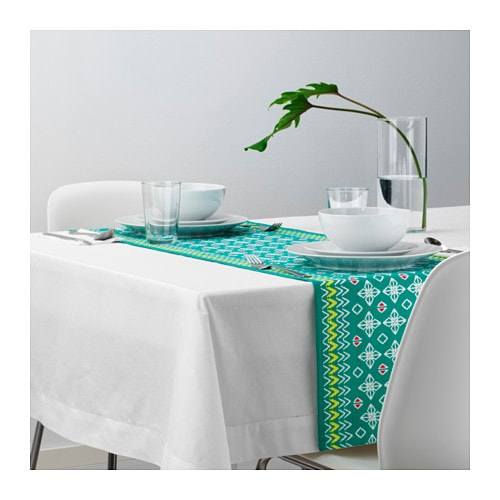 sommar 2017 table runner green 40x140 cm ikea. Black Bedroom Furniture Sets. Home Design Ideas