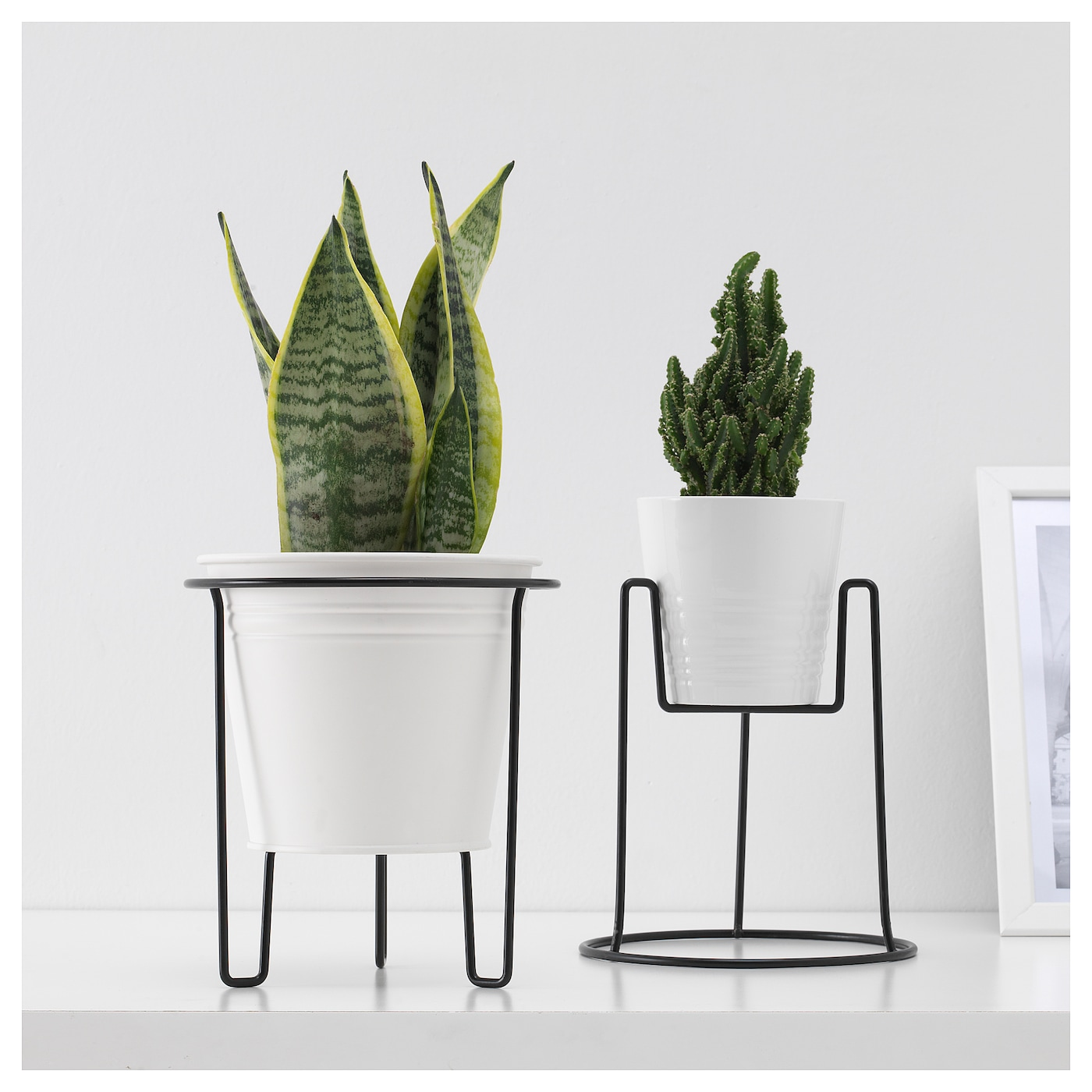 sommar 2018 plant stand in outdoor black 19 cm ikea. Black Bedroom Furniture Sets. Home Design Ideas