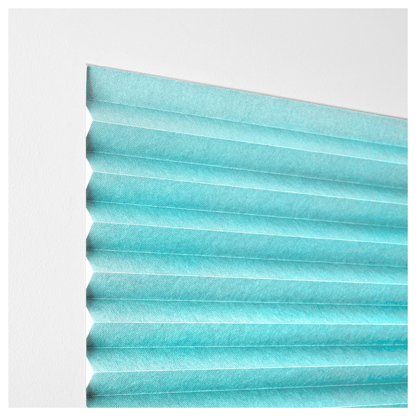 Sommar 2018 pleated blind light turquoise 100x190 cm ikea for Pleated shades ikea