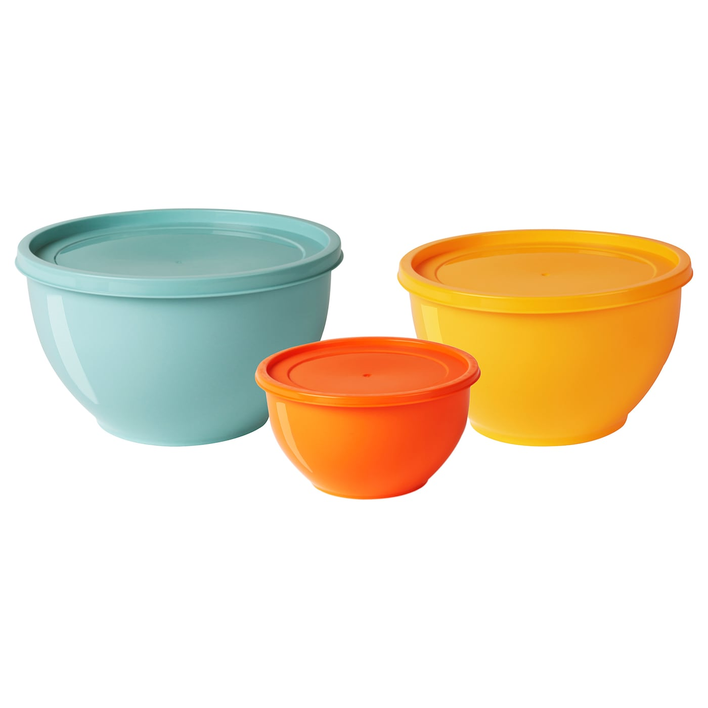 IKEA SOMMAR 2019 bowl with lid, set of 3