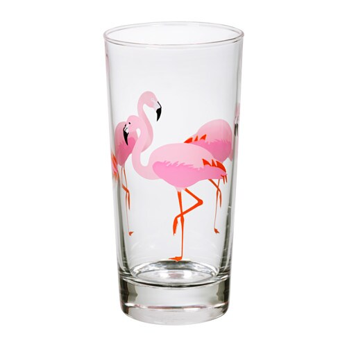 Sommarfint Glass Flamingo 40 Cl Ikea