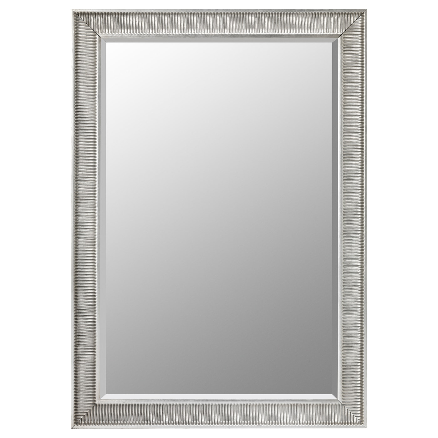 Songe mirror silver colour 91x130 cm ikea for Mirror video