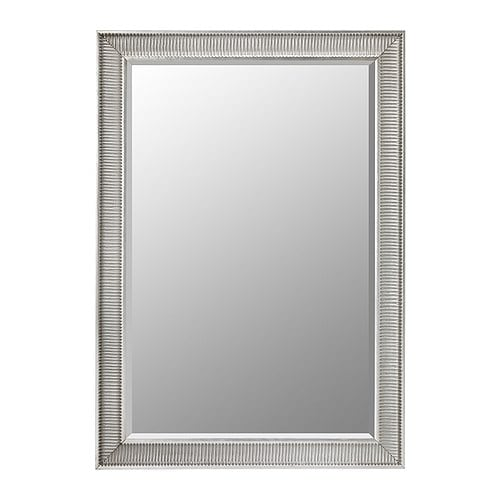SONGE Mirror IKEA Provided with safety film - reduces damage if glass is broken.  Can be hung horizontally or vertically.