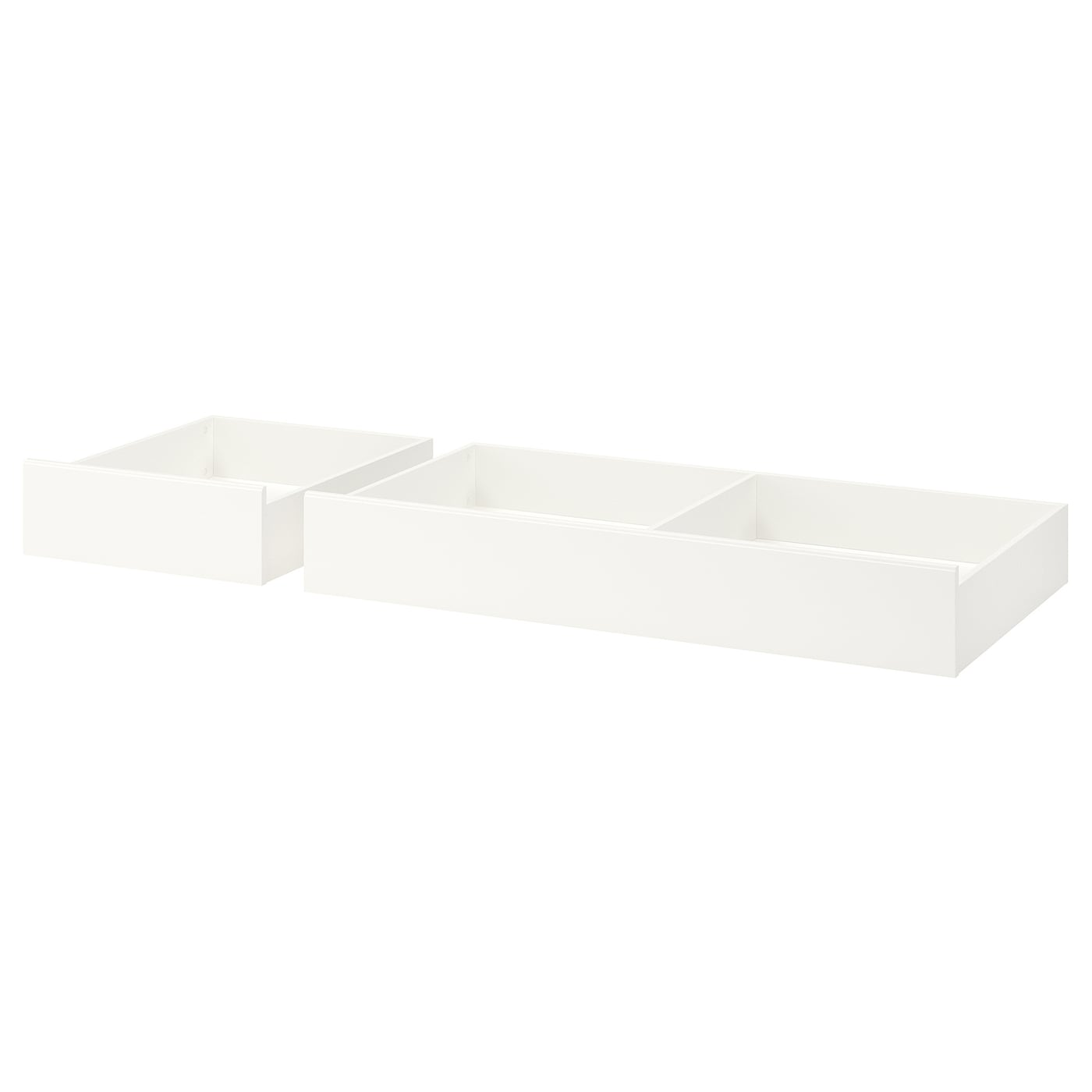 Ikea Songesand Bed Storage Box Set Of 2 Smooth Running Castors Make Content Easily Accessible