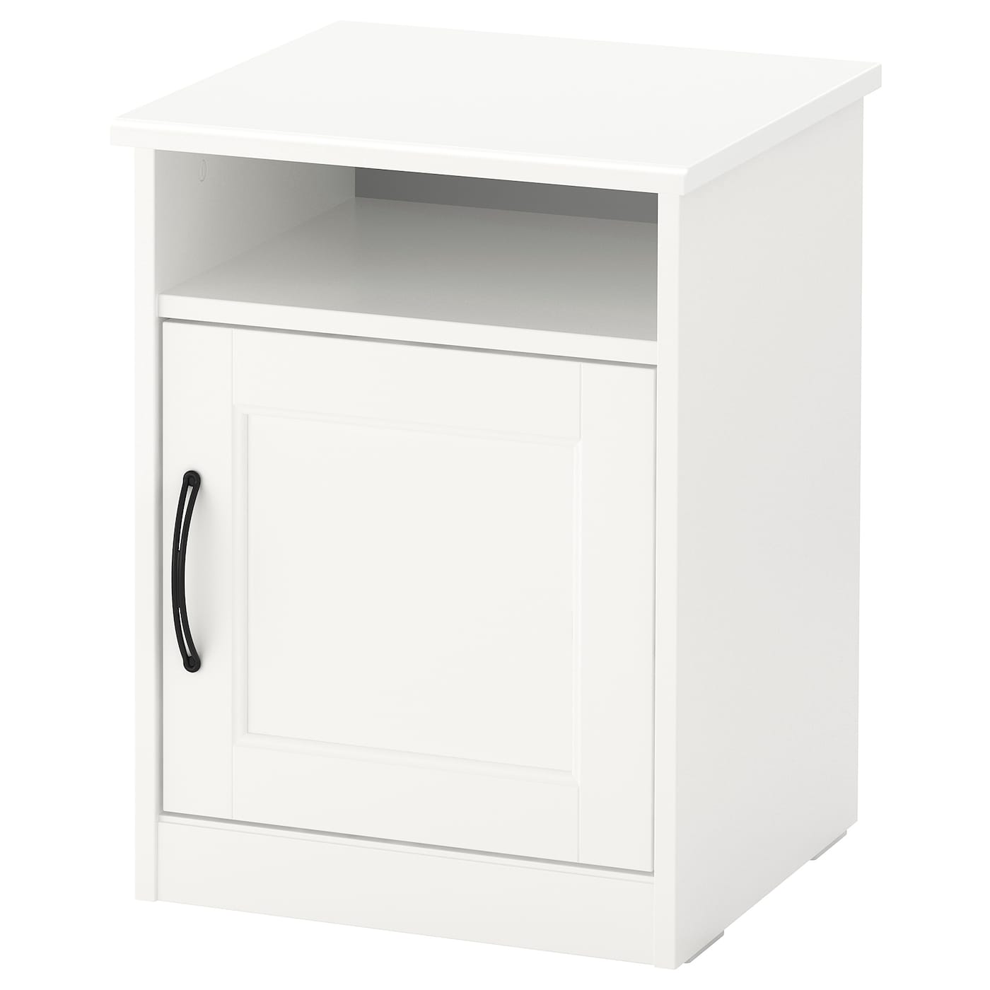 IKEA SONGESAND bedside table The door can be hung with the opening to the right or the left.