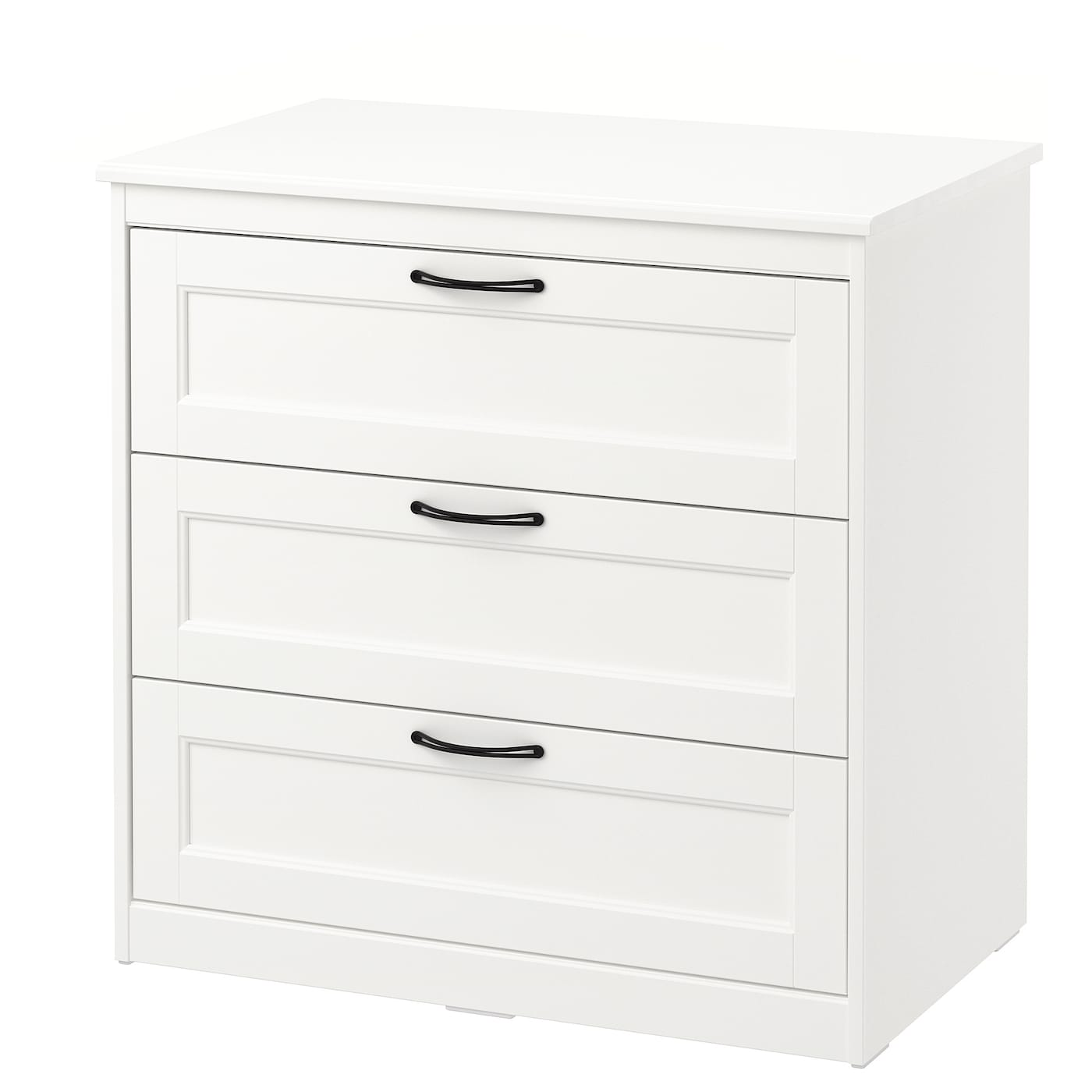IKEA SONGESAND chest of 3 drawers Smooth running drawers with pull-out stop.