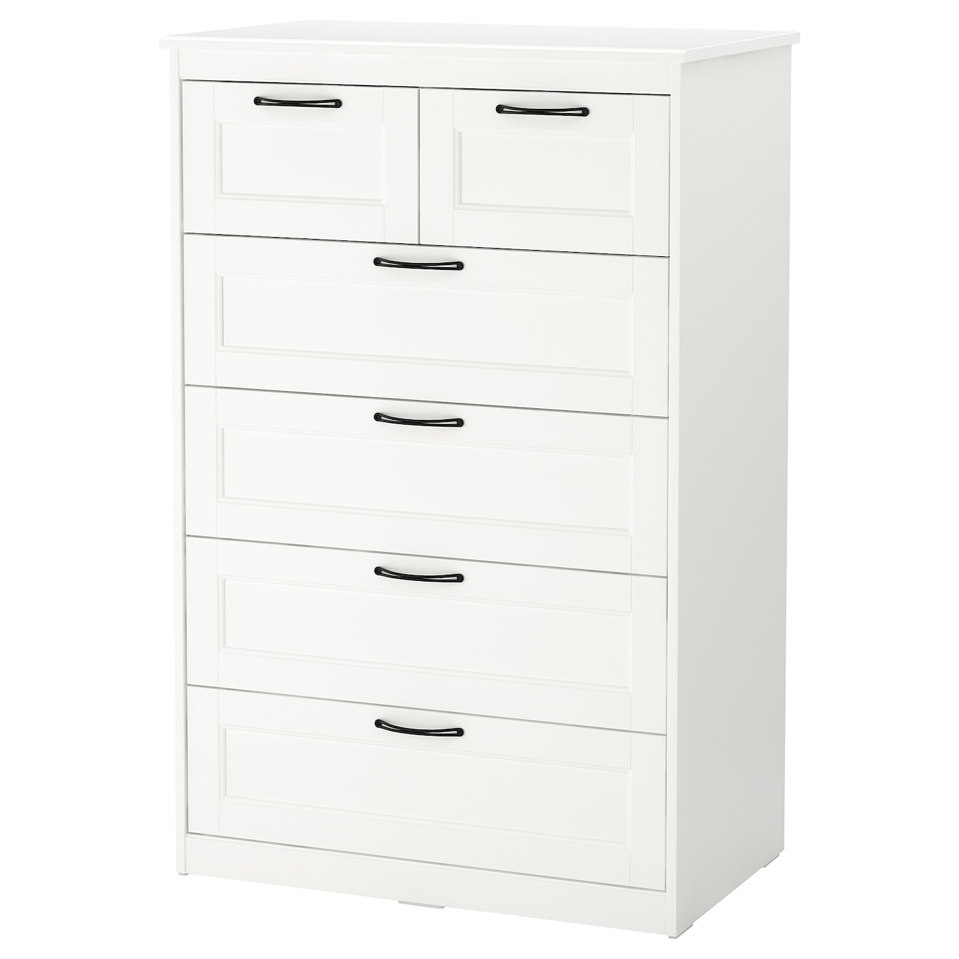 IKEA SONGESAND chest of 6 drawers Smooth running drawers with pull-out stop.