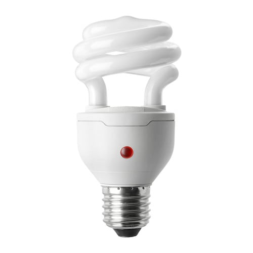 SPARSAM Low-energy bulb E27 IKEA Automatically turns on at dusk and off at dawn.