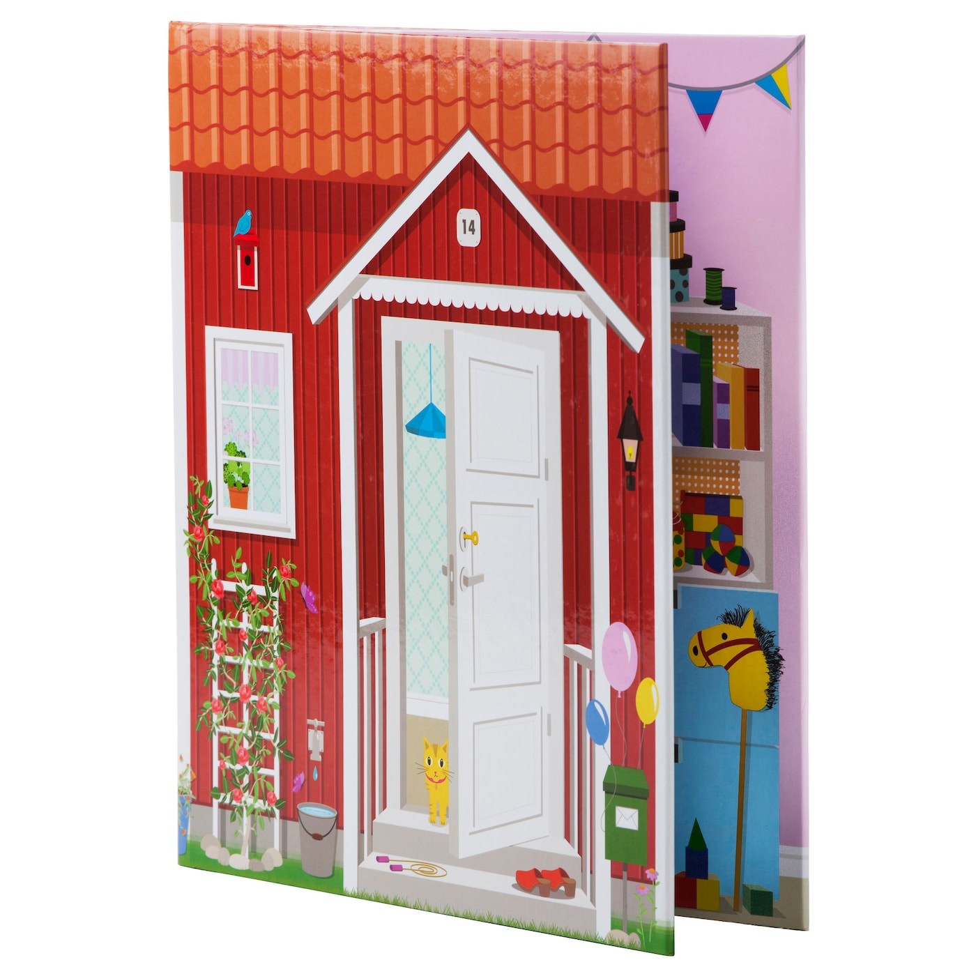 IKEA SPEXA doll's house Dollhouse in the form of a book, with 4 different room settings.