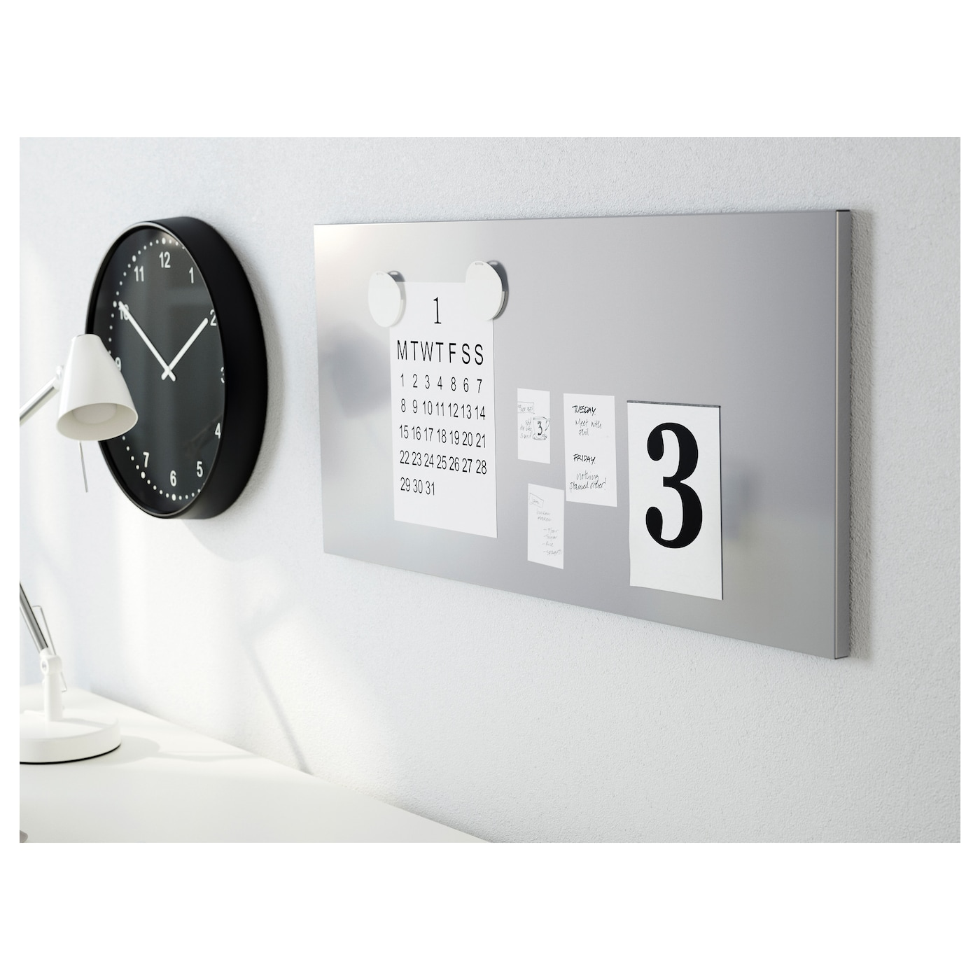 Spontan magnetic board silver colour 37x78 cm ikea - Tableau magnetique ikea ...