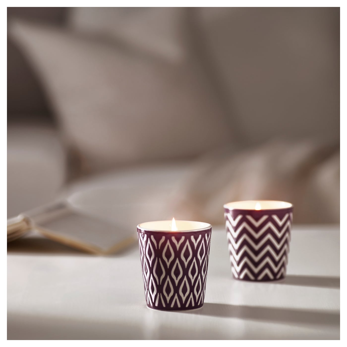 IKEA SPRALLA scented candle in pot The scent of aloe vera creates a harmonious atmosphere at home.