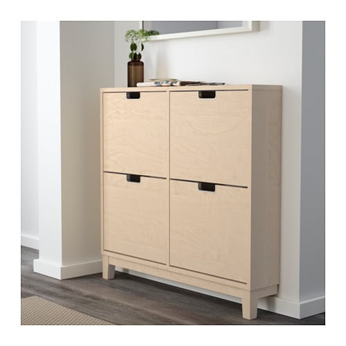 st ll shoe cabinet with 4 compartments birch 96x90 cm ikea. Black Bedroom Furniture Sets. Home Design Ideas