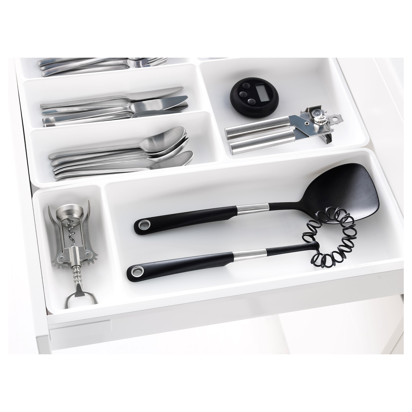 IKEA STÖDJA utensil tray Ideal for storing large kitchen utensils. Easy to remove for cleaning.