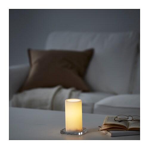 St Pen Led Block Candle Battery Operated White Ikea