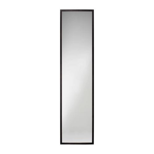 STAVE Mirror IKEA The mirror can be made turnable, if you choose to mount it with the included hinges.