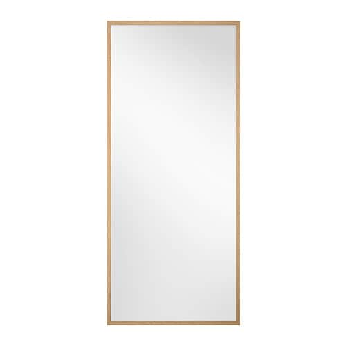 stave mirror oak effect 70x160 cm ikea