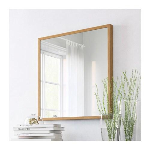 stave mirror oak effect 70x70 cm ikea. Black Bedroom Furniture Sets. Home Design Ideas