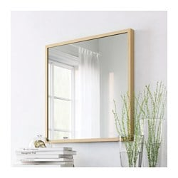 stave mirror white stained oak effect 70x70 cm ikea. Black Bedroom Furniture Sets. Home Design Ideas