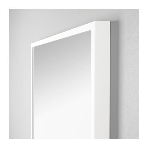 ikea stave mirror provided with safety film reduces damage if glass