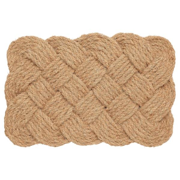 STAVREBY Door mat, indoor, handmade/braided natural, 40x60 cm