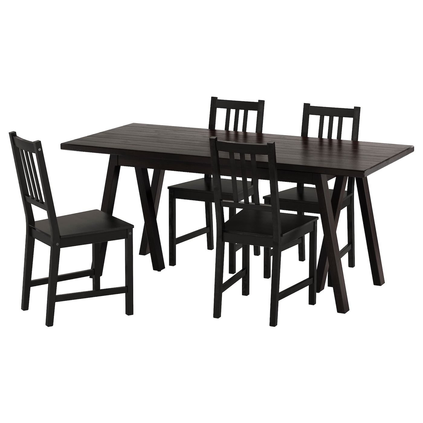 STEFANRYGGESTADGREBBESTAD Table and 4 chairs Blackbrown black