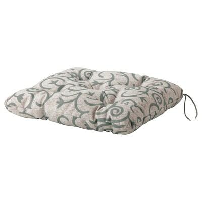STEGÖN Chair cushion, outdoor, beige, 50x50 cm