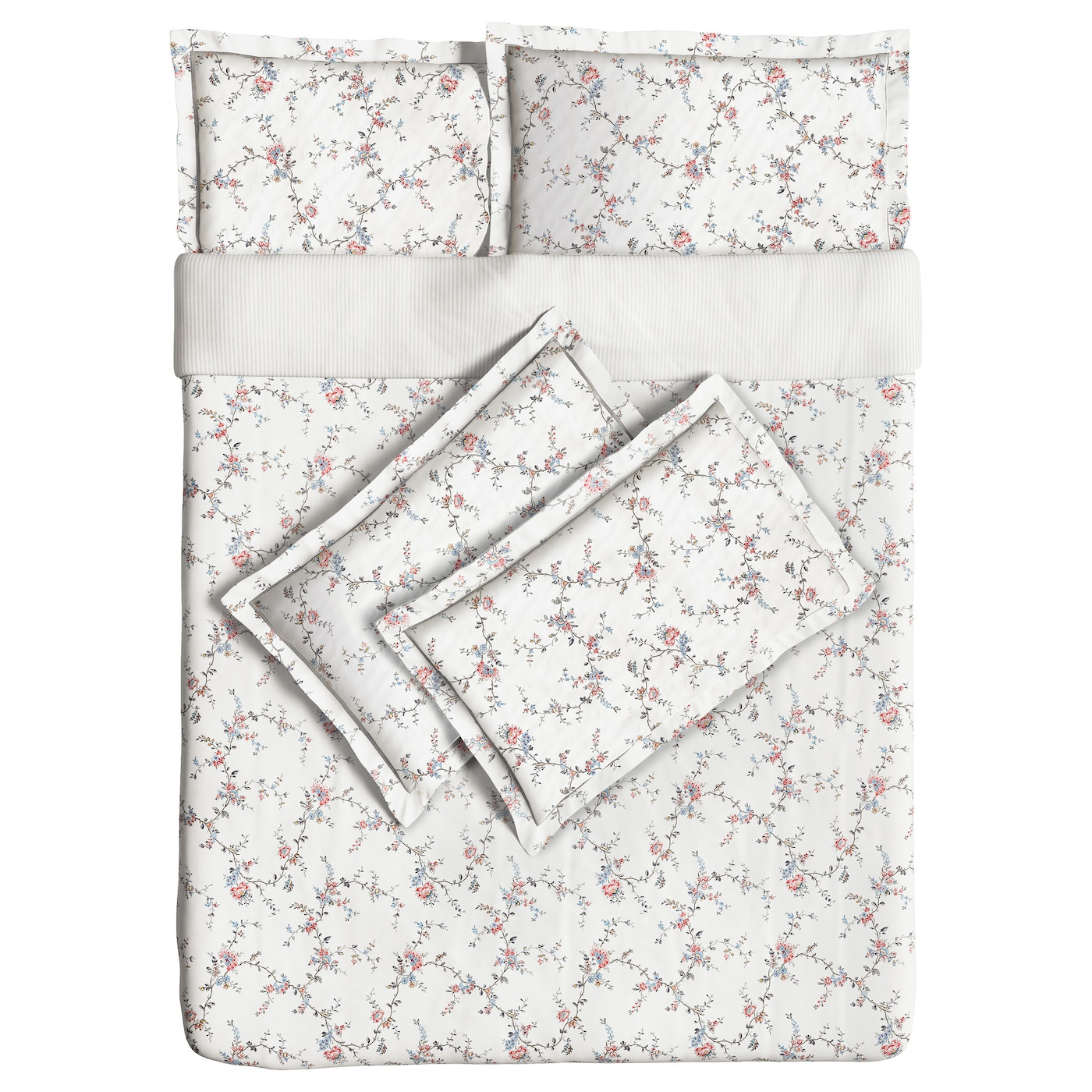 sten rt quilt cover and 4 pillowcases flower 200x200 50x80 cm ikea. Black Bedroom Furniture Sets. Home Design Ideas