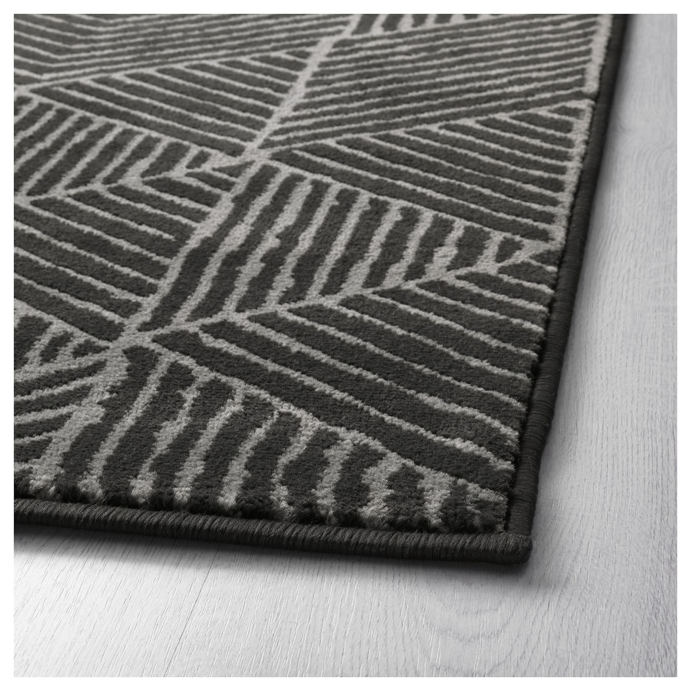 Stenlille rug low pile grey 170x240 cm ikea for Grey rug ikea