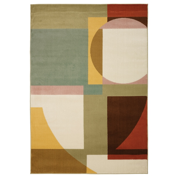 STENMÄTARE Rug, low pile, multicolour, 133x195 cm
